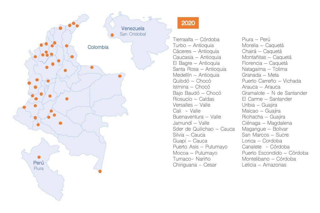Mapa de cobertura EKOFIL